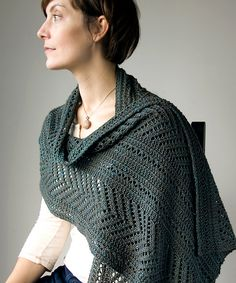 Ravelry: Boiseau Wrap pattern by Megan Goodacre knit in Fibre Co Acadia