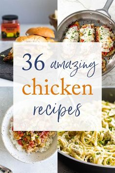 36 Amazing chicken recipes! Find your new dinner inspiration with these boneless skinless chicken breast dinner ideas. | easy dinner recipes | chicken recipes | chicken breast recipes | easy meals | #chicken #dinner #recipes #cooking Gourmet Recipes, Appetizer Recipes, Dinner Recipes, Dinner Ideas, Balsamic Glazed Chicken, Breast Recipe, Boneless Skinless Chicken, Baked Chicken Recipes, Spring Recipes