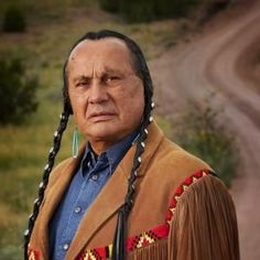 Russell Means - actor, activist, leader. This photo from Chingachgook - 'The last of the Mohicans.' The LA times has called him the most famous American Indian since Sitting Bull and Crazy Horse. http://www.russellmeans.com/