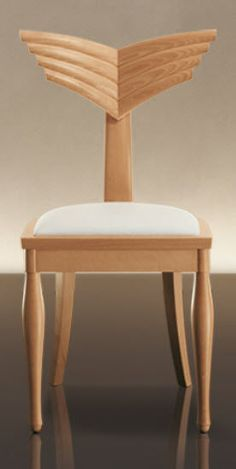 Can you love a chair back? >>> contemporary wooden chair OLIMPIA by Massimo Scolari GIORGETTI
