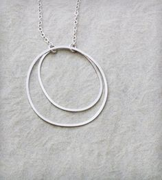 Double Hoop Necklace by Elaine B Jewelry on Scoutmob Shoppe http://scoutmob.com/p/Double-Hoop-Necklace?ref=cat_jewelry&sort=new