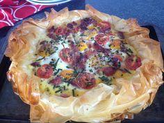 Phyllo Breakfast Pie