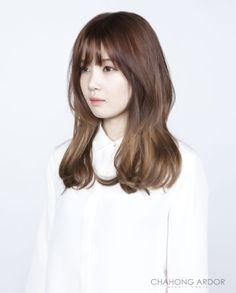 Memories of Roses 메모리즈 오브 로즈 Hair Style by Chahong Ardor Fringe Hairstyles, Permed Hairstyles, Hairstyles With Bangs, Pretty Hairstyles, Layered Hairstyles, Blonde Hair With Fringe, Layered Hair With Bangs, Bad Hair, Hair Day