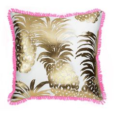 Pattern: Flamenco Adorn your space with perfectly printed and detailed pillows suitable for any Lilly lover. - Coordinating design on back side - Weather resistant fabric for indoor/outdoor use - Fibe