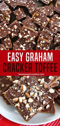 Treat your family with this addicting easy graham cracker toffee for snacks. It is so easy with simple ingredients like Graham brown sugar butter chocolate chips and almond. It is the best holiday sweet treat! Enjoy it with your family! Graham Cracker Toffee, Graham Cracker Recipes, Chocolate Graham Crackers, Chocolate Chips, Recipes With Graham Crackers, Toffee Recipe With Crackers, Graham Cracker Dessert, Cracker Candy, Chocolate Candy Recipes