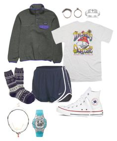 """Oorn// going to my brothers soccer game"" by miss-southern-girl ❤ liked on Polyvore featuring Patagonia, Retrò, NIKE, J.Crew, Converse, Iosselliani, Sole Society, Adam Marc, Timex and women's clothing"