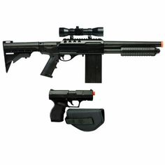 Crosman Airsoft Spring Pump Shotgun with P9 Pistol, Black by Crosman. $51.99. The ultimate in Airsoft. A spring-powered pump shotgun, and spring powered pistol in one great kit.