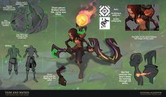 ArtStation - Taim and Ma'Rid : The Boon and The Bane, Oussama Agazzoum League Of Legends Game, League Of Legends Characters, Lol Champ, Character Art, Character Design, Fantasy Artwork, Concept Art, Fan Art, Drawings