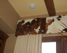 cowhide window valance