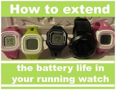 Genius Idea!! How to extend the battery life in your Running Watch
