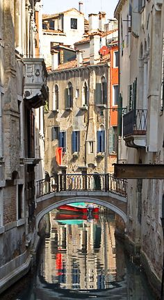 Reflections of Venice, Italy.