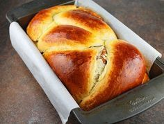 Romanian Cozonac (Easter Bread) Read Recipe by laurenmacphail Romanian Desserts, Romanian Food, Romanian Recipes, Festive Bread, Snacks, Sweet Bread, International Recipes, Bread Baking, Love Food