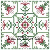 The Floss Box | Biscornu 672 Pdf pattern