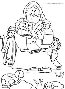 jesus coloring pages - Toddler Printable Coloring Pages