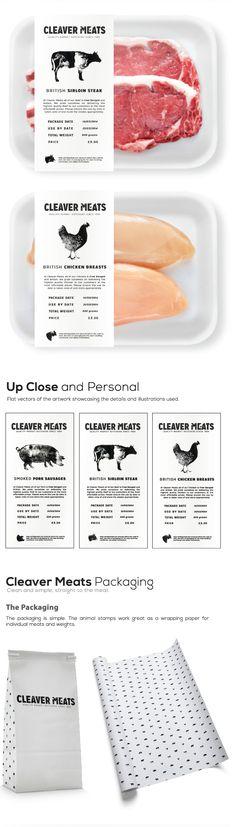 Cleaver Meats Butcher Shop on Behance