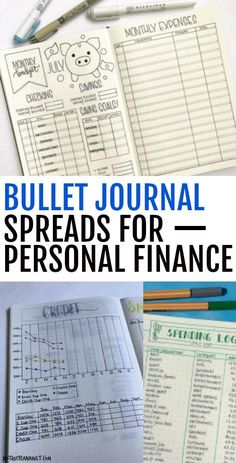 Bullet Journal Layouts to Master Your Money - Bullet Journal und Co. Bullet Journal Layouts to Master Your Money bullet journal spreads for personal finance Bullet Journal Spreads, Bullet Journal Layout, Bullet Journal Money Tracker, Bullet Journals, Bullet Journal Finance, Bullet Journal Project Management, Bullet Journal Cleaning, Money Saving Challenge, Money Saving Tips