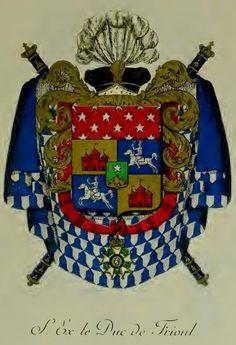 Tout sur l'héraldique : dessin de blasons et d'armoiries: Armorial du premier Empire : le duc de FRIOUL