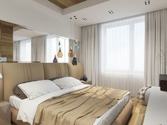 Иногда, самым важным акцентом в спальне становятся светильники. Ни покрывало, ни шторы, ни напольное покрытие не способно так украсить самое уютное место в доме, как лампа.