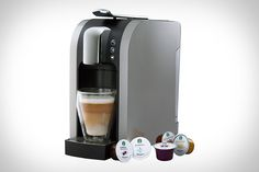 Starbucks Verismo: This new single-cup machine uses individual pods to brew espressos and coffees, and separate milk pods to create drinks like Caffe Lattes, all brewed to Starbucks standards thanks to Swiss-engineered high-pressure technology.