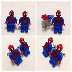 LEGO Cufflinks - Mens Cufflinks -   Cufflinks - Groomsmen Gift -  Lego® SPIDERMAN Cufflinks - Lego® Minifigure Cufflinks - WEDDING Gift on Etsy, $20.00