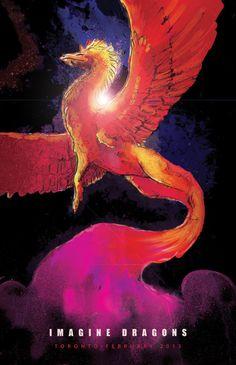 Imagine Dragons by Jenny Hawkyard, via Behance