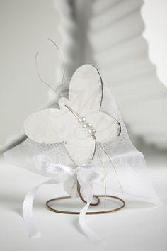 Μπομπονιέρα βάπτισης μεταλλική πεταλούδα