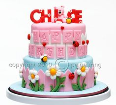 Look at those embossed letters!  I love everything about this cake!