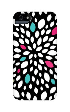 Flower Burst iPhone case #iPhonecase #patterns #blackandwhite