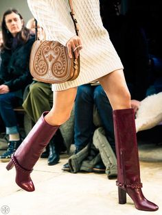 {Tory Burch Sarava Braided Boots} #fall2015 #fallstyle