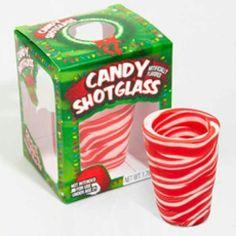 Candy cane shot glass~