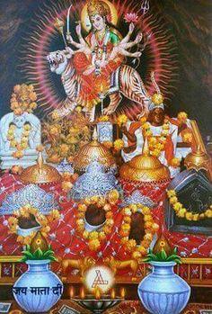 Jay Mata di Mother Kali, Vaishno Devi, Kali Ma, Ganesha Art, Creative Photography, Entertaining, Jay, Painting, Painting Art