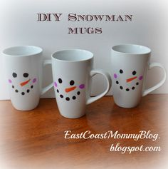 East Coast Mommy: DIY Snowman Mugs