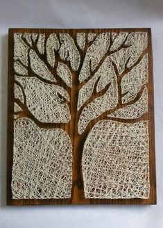 Take a look at these 12 very inspiring String Art models - Decoration - Tips and Crafts String Wall Art, Nail String Art, String Crafts, Diy Home Crafts, Decor Crafts, Arts And Crafts, String Art Patterns, Doily Patterns, Dress Patterns