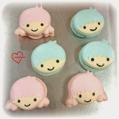 Loving Creations for You: Little Twin Stars Rose and Lavendar Macarons (note...