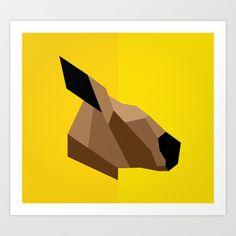 Kangaroo Art Print by BMaw - $16.00 (society 6)