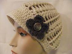 Newsboy Style Woman Girl Hat Handmade Crochet by ManyTinyStitches, $24.00