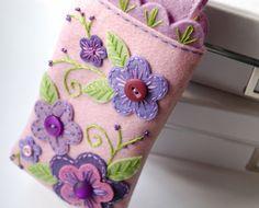 RISERVATI iPhone iPod Cozy Droid-rosa e viola giardino