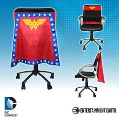 Wonder Woman Chair Cape//I think I need this for my car at the dinner table!!