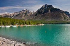 Lake Minnewanka Scenery Canadian Rocky Mountains Banff