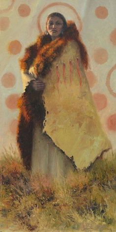 """Listen,  or your tongue will make you deaf.""  ~ Native American Proverb  Art:  BRENT FLORY - the matriarch"