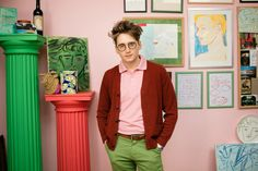 Luke Edward Hall in his studio for Papier Edward Hall, Concept Shop, Colourful Outfits, Decoration, Home Deco, Color Inspiration, My Outfit, Menswear, Mens Fashion