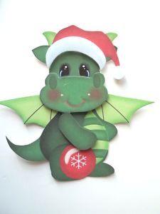3D ~ Dragon Ornament Christmas Scrapbook Card Embellishment #631