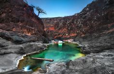 Wadi Druher Canyon - The natural pool in wadi Druher is safe for swimming and is characterised by emerald green waters of the maximum depth of about 2 meters (which, however, varies with the season and the rainfall of the previous months)