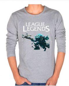 Spring League of Legends mens tshirt long sleeve Twitch XXXL t shirt-