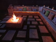 What More Can You Ask For Rectangular Fire Pit Built In