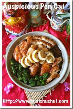 Auspicious Chinese New Year Dish : Poon Choi aka Peng Cai or Basin Dish…
