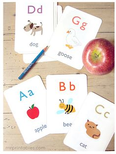 Printable alphabet cards...laminate and make multiple sets