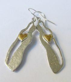 A Loving Couple silver earings by innakjewelry on Etsy, $47.00