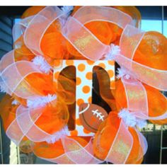 Ready for TENNESSEE FOOTBALL! Go VOLS!!! $55.00 Etsy.com.  Of course it would be in maroon and white!!!