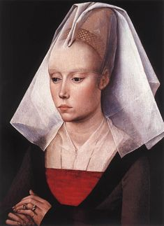 c. 1455 - Portrait of a Lady by Rogier van der Weydan - I'm gonna pluck my hair out like that
